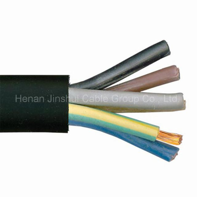 Low Voltage 5 Core Copper Conductor Rubber Insulated Cable