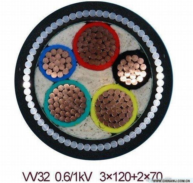 Low Voltage Power Cable 2X4+1X4 mm2 XLPE Insulated Swa