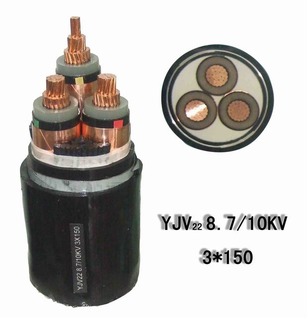 Medium Voltage 11kv 3X185 mm2 Copper /XLPE/Swa/PVC/PE
