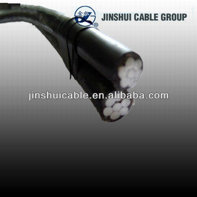 XLPE Insulated Duplex Service Drop Cable ABC Cable 16mm2 25mm2 35mm2 50mm2 70mm2 95mm2 120mm2