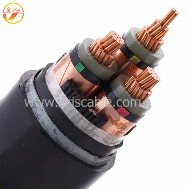 Yjv22 Yjv32 Cu/XLPE/PVC/Swa/PVC 50mm 25mm 35mm Electric Cable 35kv XLPE Price High Voltage Power Cable